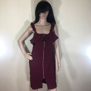 Almost famous burgundy dress